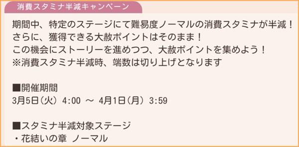 スタミナ半減CP~4/1